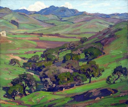 "William Wendt ""Oak Grove, Santa Margarita Ranch"" 25 x 30 inches"