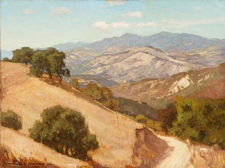 William Wendt, California Landscape, 1917, 24 x 32 inches, oil on canvas!
