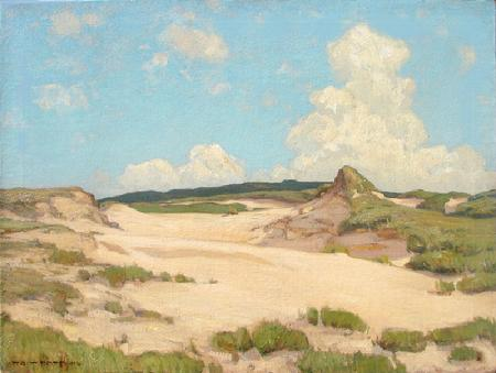 "William Wendt ""The Sand Dunes at Monterey"", dated 1902, 24 x 32 inches, oil on canvas!"