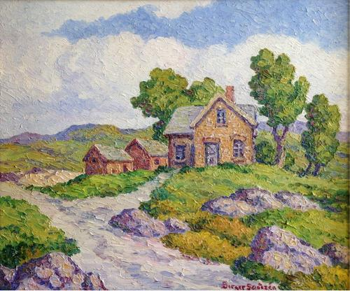 "Birger Sandzen ""Once a Home"" 20 x 24 inches, oil on board, excellent condition! AVAILABLE"