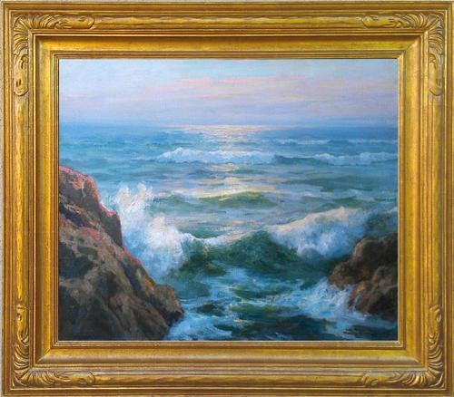 "Maurice Braun ""The Pacific"" La Jolla, California, 25 x 30 inches, oil on canvas, excellent condition! AVAILABLE"